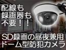 配線・録画装置不要の昼夜兼用SD録画ドーム型防犯ビデオカメラ【CN-660C】